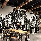 Papel De Parede Personalizado 3D Foto Mural Clássico Série Preto E Branco Prédio Alto Paisagem Urbana Papel De Parede De Fundo De Tv,250(W)*175(H)Cm
