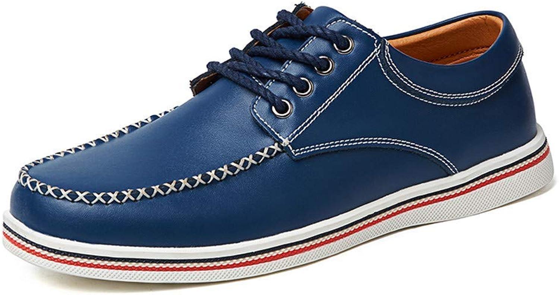 Hhgold 2018 Men's Oxford Casual Business Comfortable Simple Soft British Fashion Formal shoes (color  bluee, Size  45 EU) (color   bluee, Size   46 EU)