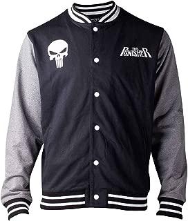 Punisher Baseball Jacket Skull Logo Official Comics Mens Varsity