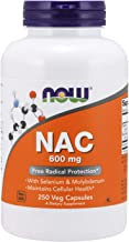 NOW Foods Supplements, NAC (N-Acetyl Cysteine)600 mg with Selenium & Molybdenum, 250 Veg Capsules