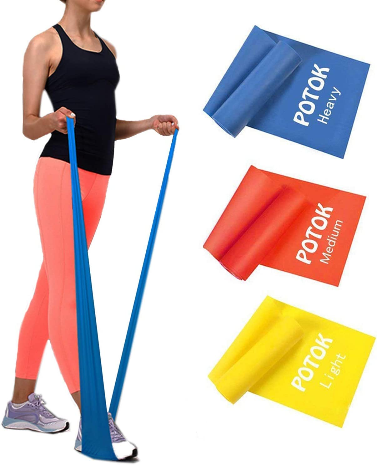 Potok Resistance Branded goods Bands Set 3 Dif Latex with Pack Cheap SALE Start Exercise