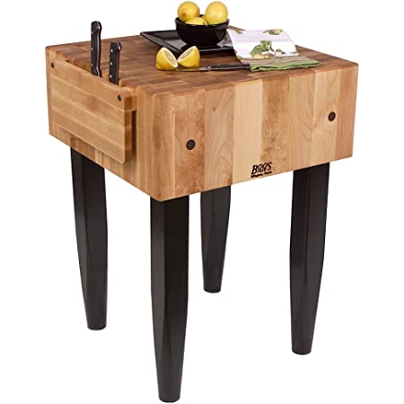 Amazon Com Pro Chef Prep Table With Butcher Block Top Casters Not Included Size 30 W X 24 D Kitchen Storage Carts Kitchen Dining