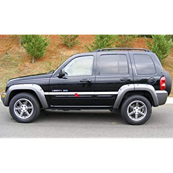 Amazon Com 312 Motoring Fits 2002 2008 Jeep Liberty Carbon Fiber Rocker Trim Moldings 2pc 2003 2004 2005 2006 2007 02 03 04 05 06 07 08 Automotive