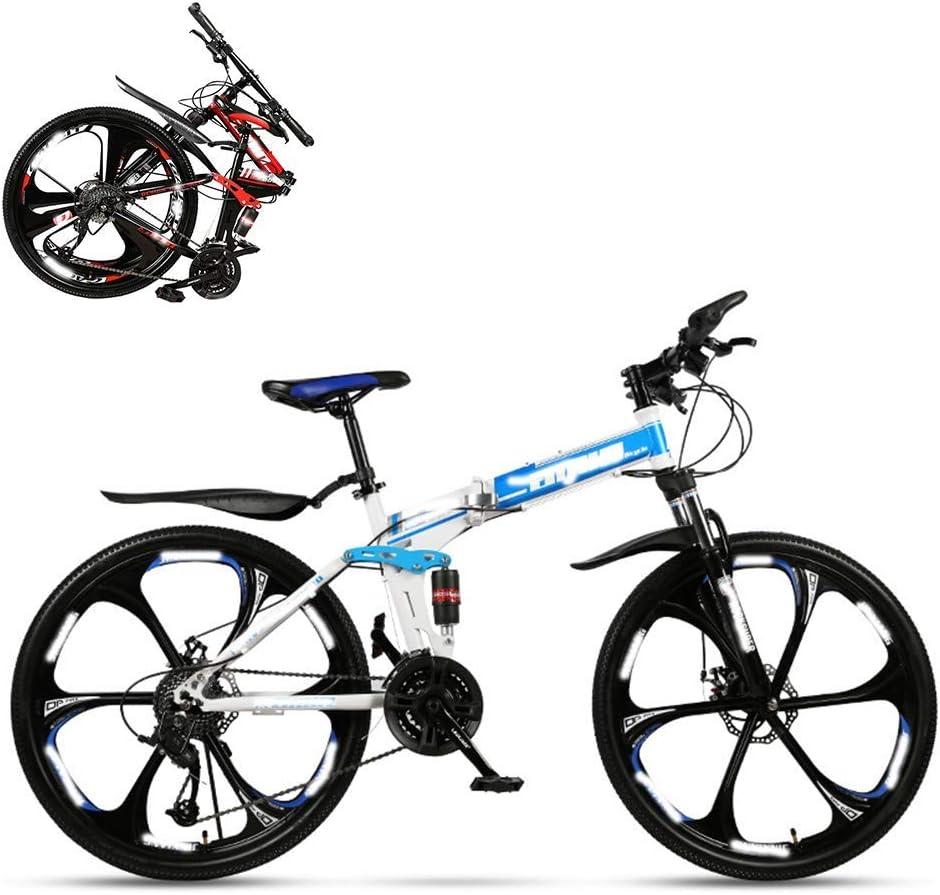 CHHD Bicicleta Plegable para Adultos, Carreras Todoterreno ...