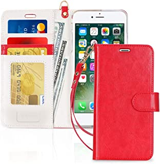 FYY Case for iPhone 8 Plus/iPhone 7 Plus,[Kickstand Feature] Luxury PU Leather Wallet..