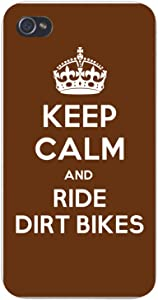 Apple iPhone Custom Case 5 5s and SE Snap on - Keep Calm and Ride Dirt Bikes
