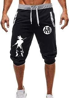 Ample New Summer Men Dragon Ball Shorts Casual Drawstring Goku Print Sweatpants Fitness Jogger Short Pants in fine Style