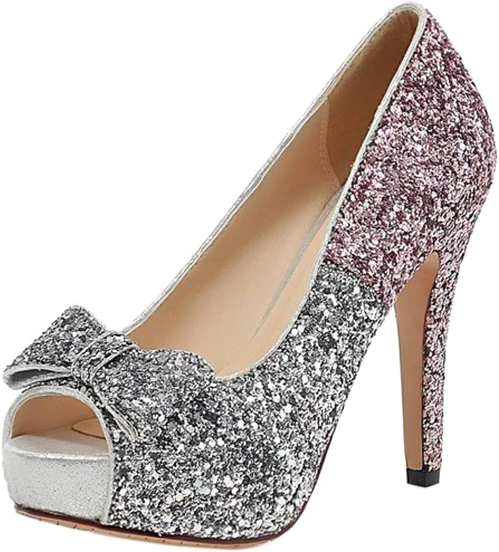 Kaizi Karzi Women Fashion Platform Court shoes Peep Toe Party shoes