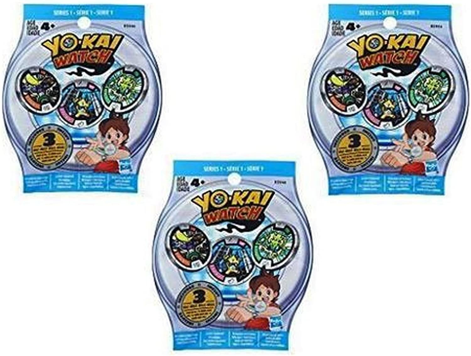 Yo-Kai Season 1 Medals - Three Blind Bags - 9 Random Medals by Yokai
