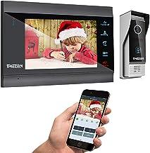 TMEZON 7 اینچ بی سیم / سیمی ویدئو درب ورودی فای IP Doorbell ورودی ورودی داخلی با 1x1200TVL دوربین سیمی دوربین دید در شب، پشتیبانی از راه دور باز، ضبط، عکس فوری