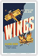 Pacifica Island Art Wings - An Epic of the Air - Starring Clara Bow and Gary Cooper - First Oscar Winner for Best Picture - Vintage Film Movie Poster c.1927 - Master Art Print - 12in x 18in