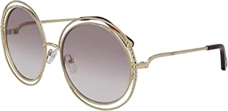 2daa1dcce9 Chloé Lunettes de Soleil CARLINA CHAIN CE114SC GOLD/LIGHT GREY BROWN SHADED  femme