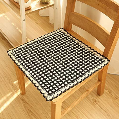 YLCJ Katoen Breien Zitkussen, Kussen Maaltijdstoel Cushioning Computer Stoel Kussen voor Kantoor Stoelen-C 45x45cm (18x18inch)