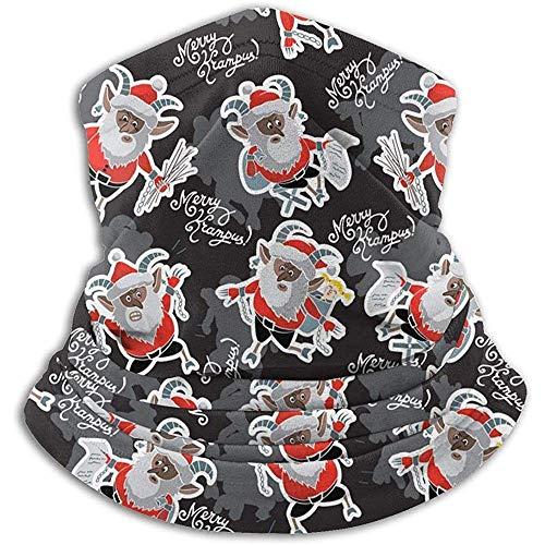 Grappige Krampus Microfiber Neck Warmer Balaclavas Zachte Fleece Hoofddeksels Gezicht Sjaal Masker voor Winter