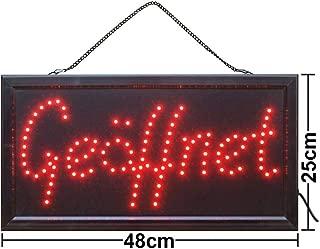 PIZZA Elektronisches LED-Schild animierte das originale intelligente leuchtende LED-Schild f/ür professionelle blinkende Anzeigeschilder 55cm x 33cm x 2.2cm leistungsstarke