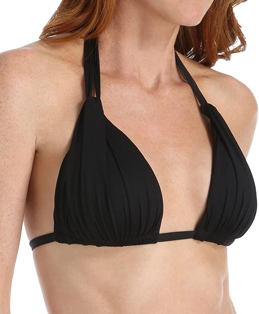 La Blanca Women's Direct stock discount Standard Island Halter Bikini Shipping included Goddess Rouched