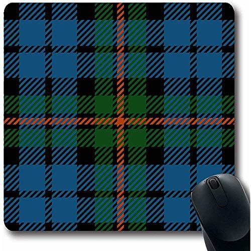 Mousepads Groot-Brittannië Blauwe Plaid Tartan Patroon Abstract Oranje Groene Schotse Britse Keltische Ontwerp Zakdoek Oblong Vorm 18X22Cm Antislip Gaming Mouse Pad