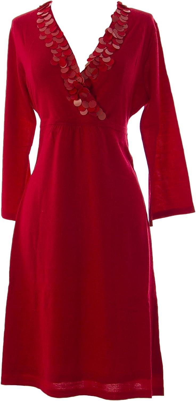 BODEN Women's Paillette Credver Dress Red