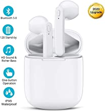 Auriculares Bluetooth Inalámbricos Deportivos Auriculares In-Ear 5.0 Cascos Bluetooth Mini TWS con Micrófonos Dual, Caja de Carga Auriculares para Dispositivos Que admiten Bluetooth All Smartphones