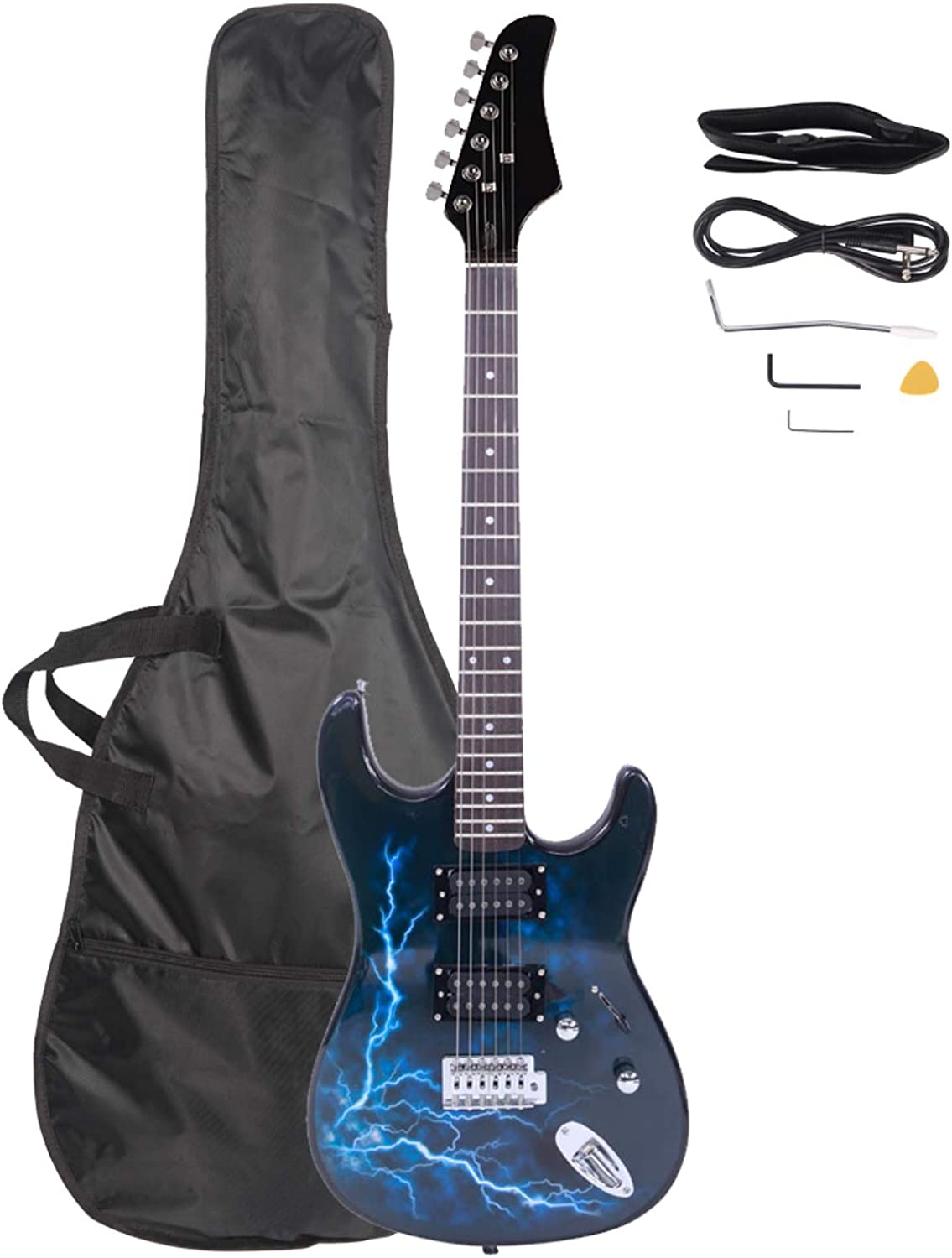 Lightning Style Electric Guitar Ranking TOP15 New sales with Bag Strap Plectr Cord Power