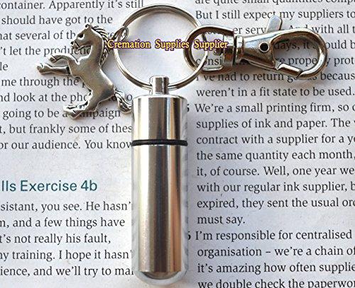 Schlüsselanhänger mit Pferdemotiv, Silber-Gebetskapsel, Schlüsselanhänger, Pferde-Pillenhalskette, geheime Kapsel-Schlüsselanhänger, Parfüm-Phiole-Schlüsselanhänger