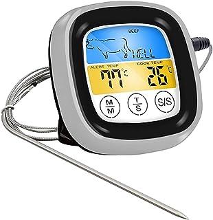 BIlinli Termometro per Barbecue Wireless per la Cottura di Alimenti Touch Screen con sonde e Timer per Barbecue a Base di ...