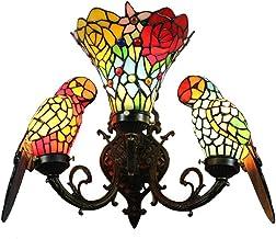 Rose Parrot Wandlamp Tiffany Wandlamp Gebrandschilderd Glas Wandverlichting lamp binnen Decoratief Licht Good Life