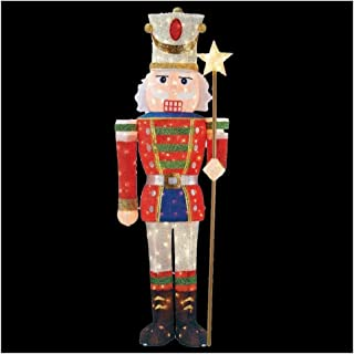 5 ft. Pre-Lit Tinsel Nutcracker Soldier