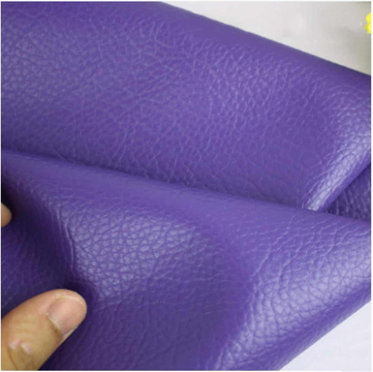 shopping YANGUANG Leatherette Faux Leather Fabric Bargain sale Le Litchi Texture Grain