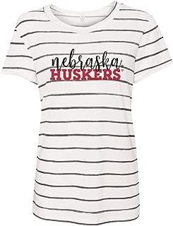Love Red Boutique Nebraska Huskers Tee Shirt - Nebraska Huskers Lifestyle Striped Tee