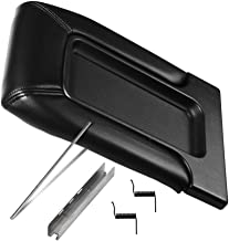 Center Console Lid Replacement Kit Black - Replaces 924-811, 19127364, 19127365, 19127366, 924-812 - Fits Chevy Silverado, Avalanche, Tahoe, Suburban, GMC Sierra, Yukon - Interior Armrest Hinge Latch