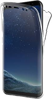 AICEK Funda Samsung Galaxy S8, Transparente Silicona 360°Full Body Fundas para Samsung S8 Carcasa Silicona Funda Case (5.8