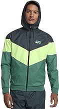 Nike Mens HD GX Windrunner Hooded Track Jacket Deep Jungle Green/Barley Volt AJ1396-328 Size Large