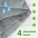 green sprouts Muslin Burp Cloths Made from Organic Cotton (3pk), Blue Owl