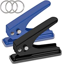 Low Force One Hole Punch,2 Packs.20 Sheets Punch Capacity,1/4