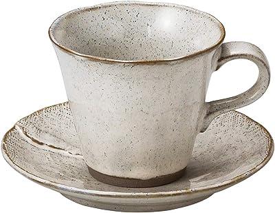 山下工芸 カップ_ソーサー 白 φ9×7.5cm(210cc) 白伊賀コーヒー碗と受皿 15051420