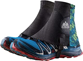 Keep outdoor 1 Pair Low Trail Running Gaiters Sandproof Ankle Gaiters Lightweight Protective Reflective Shoe Covers for Hiking Walking Marathon