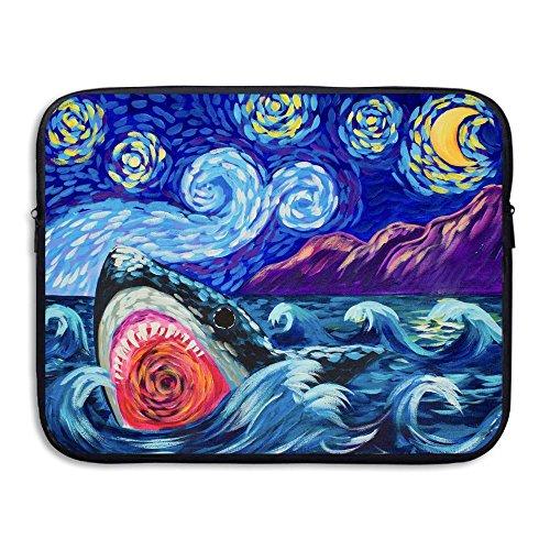Business Briefcase Sleeve Shark Painting Laptop Sleeve Case Cover Handbag For 13 Inch Macbook Pro Air Lenovo Samsung