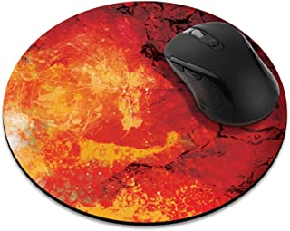 Non-Slip Round Mousepad, FINCIBO Irises Vincent Van Gogh Mouse Pad for Home, Office and Gaming Desk