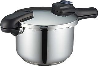 パール金属 圧力鍋 5.5L IH対応 3層底 切り替え式 レシピ付 クイックエコ H-5042 フラストレーション・フリー・パッケージ 発送
