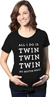 Maternity All I Do is Twin Twin Twin No Matter What Tshirt Funny Rap Lyrics Pregnancy Tee