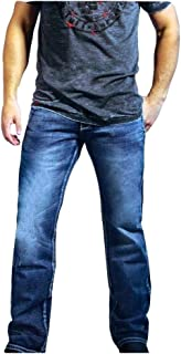 B. Tuff Western Denim Jeans Mens Sharp Bootcut Light Wash MSLIGH
