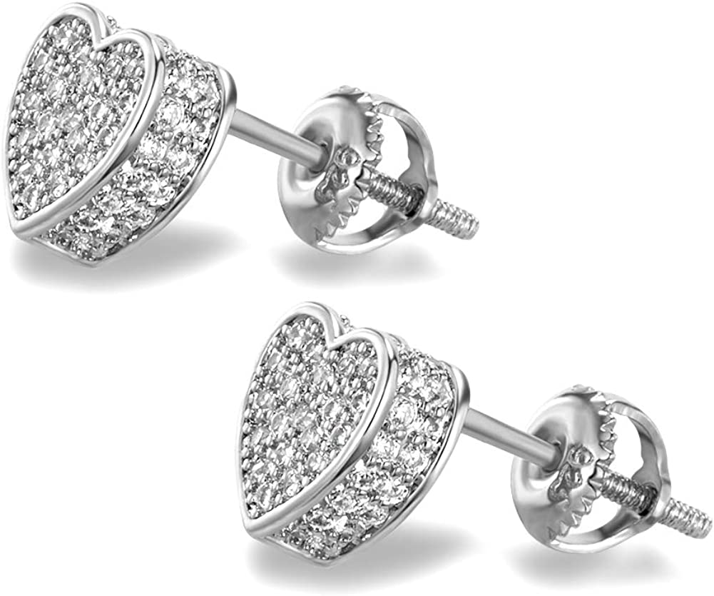 BBL Max 55% OFF Iced Out Stud Earrings Men Screw-Back Excellent for Women Earring
