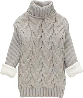 Hongyuangl Maglione Dolcevita per Bambini Neonata l Maglione a Maniche Lunghe Invernale a Maniche Lunghe Top