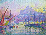 ODSAN Notre-Dame-De-La-Garde (La Bonne-Mere), Marseilles - By Paul Signac - Impresión del Giclee de la lona 24x18 pulgadas - sin marco