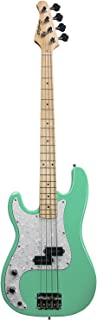 Sawtooth 4 String EP Series Left-Handed Electric Bass Guitar, Surf Green w/White Pearloid Pickguard (ST-PB-LH-SGRP)