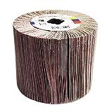 Rotolo di tamburo abrasivo a pattina abrasiva lamellare KATSU per macchine per la finitura lineare e brunitori 240 grana