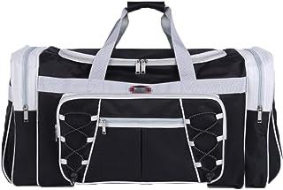 Elonglin Travel Duffle Bag Waterproof and Tear Resistant Luggage Handbag Shoulder Bags Black 2