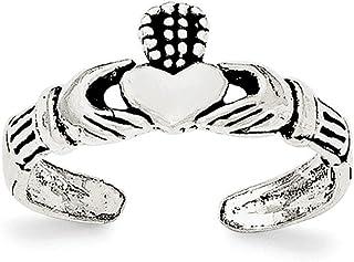 Diamond2Deal - Anello da donna in argento Sterling Claddagh