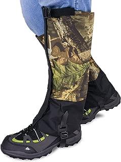 Qshare Leg Gaiters for Boots - Waterproof Hiking Climbing Hunting Snow High Leg Gaiters(Men and Women)